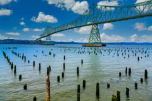 Green Steel Bridge In Astoria ...