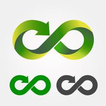 Modern Recycling Logo. Infinit...