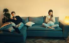 Smartphone Addicted Couple Use...