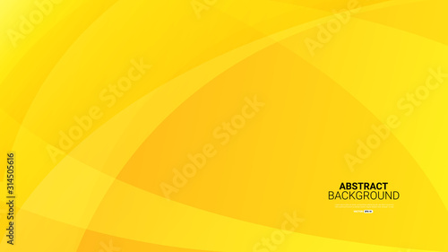 Dynamic textured yellow abstract background vector illustration Wallpaper Mural