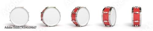 Fotografía Drum on background. Music instrument. 3D rendering.