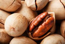 Pecan Nuts Close-up, Macro As ...