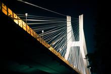 Suspension Bridge At Night On ...