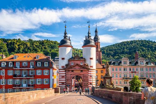 Alte Brücke, Heidelberg, Deutschland  - fototapety na wymiar