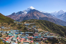 Namche Bazar Village In Nepal,...