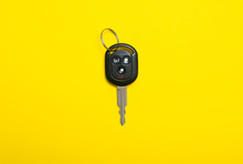 Car Key On Yellow Background, ...