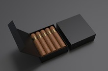 Blank Cigars In Hard Paper Box...