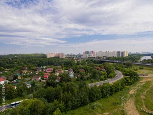 Fototapeta aerial view of the city obraz na płótnie