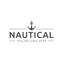 Nautical Marine Logo Icon Vector Template
