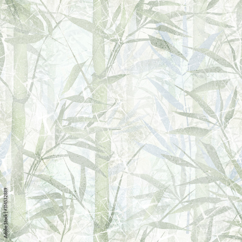 Obraz na płótnie Bambusowy las we mgle