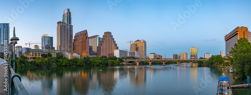 Austin Texas skyline at twilight panorama Canvas Print