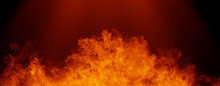 Panoramic View Fire On Isolate...