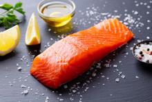 Salmon Fillet With Sea Salt, L...