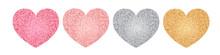 Glitter Hearts Set. Valentine'...