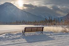 Winter Bench At Vermilion Lake...