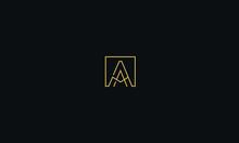 Alphabet Letter Monogram Icon Logo A