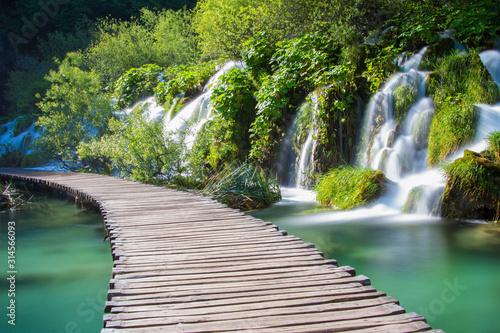 Naklejka premium Jeziora Plitwickie // Park Narodowy Chorwacja