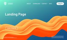 Landing Page. Flow Shape. Flui...