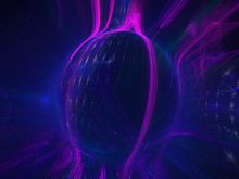 Abstract Spherical Shape 3D Il...