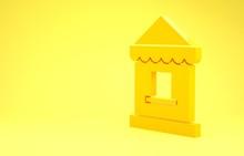Yellow Ticket Box Office Icon ...