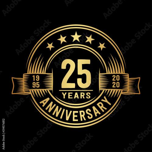 Fotografía 25 years anniversary celebration logotype
