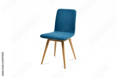 Fotomural Nice blue chair isolated on white background