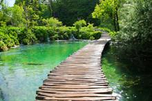 Wooden Footbridge Built Above ...