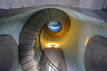 Looking Up The Spiral Staircas...