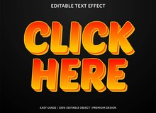 Click Here Text Effect Templat...