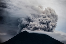Mount Agung Volcano Spewing Ho...