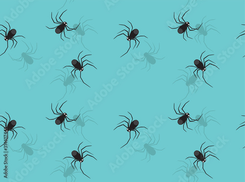 Spider Crawling Cartoon Vector Seamless Background Wallpaper-01 Canvas Print