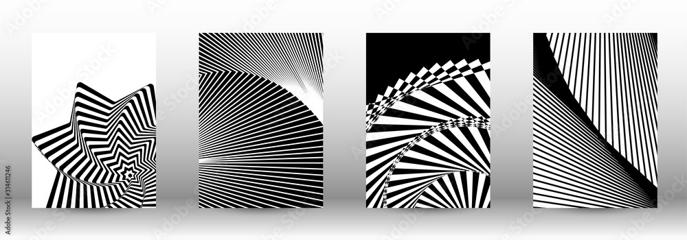 Fototapeta Set of abstract psychedelic backgrounds