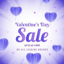 Valentine's Day Sale Poster De...