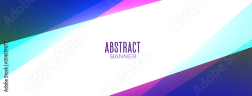 Fototapeta abstract colorful geometric style banner with text space obraz