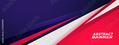 sports style banner design in red and purple colors Tablou Canvas