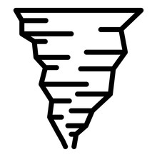 Cyclone Tornado Icon. Outline ...