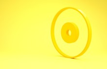 Yellow CD Or DVD Disk Icon Iso...