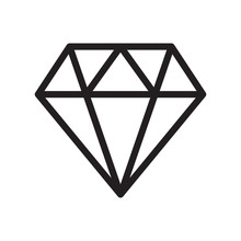 Diamond Line Icon. Diamond - E...