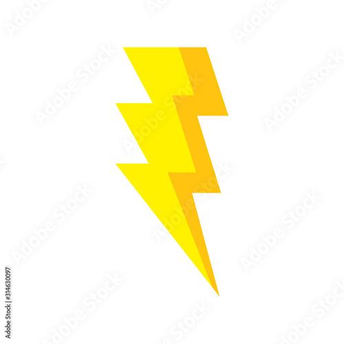 thunderbolt pop art style icon vector illustration design Poster Mural XXL