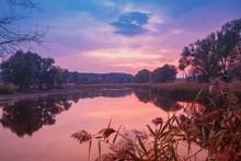 Magical Sunrise Over The Lake ...