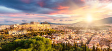 Panoramic View Over Athens By ...