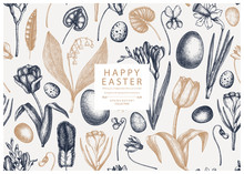 Easter Seamless Pattern. With ...