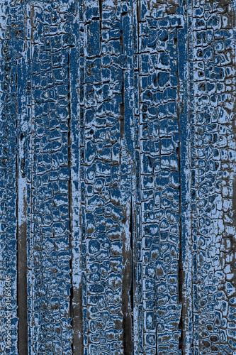 Fond bleu bois calciné Fototapet