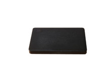 Powerbank New, Powerful Dark Color With Two Usb Inputs On A White Background And Clipping Path