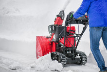Man Clearing Or Removing Snow ...