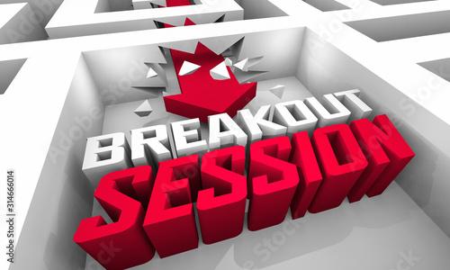 Fotografie, Obraz Breakout Session Seminar Workshop Group Team Conference 3d Illustration