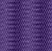 Knit Texture Purple Color. Vector Seamless Pattern Fabric. Knitting Background Flat Design.