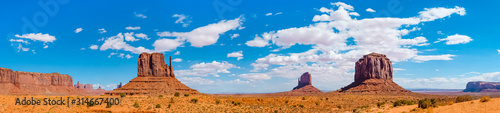 Landscape of Monument valley. Navajo tribal park, USA. Canvas Print