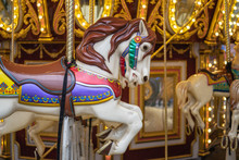 Hyde Park, London, UK 5th January, 2020. A Carousel, Round About, Also Known As A Merry Go Round