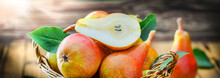Fresh Ripe Pears Wide Banner O...